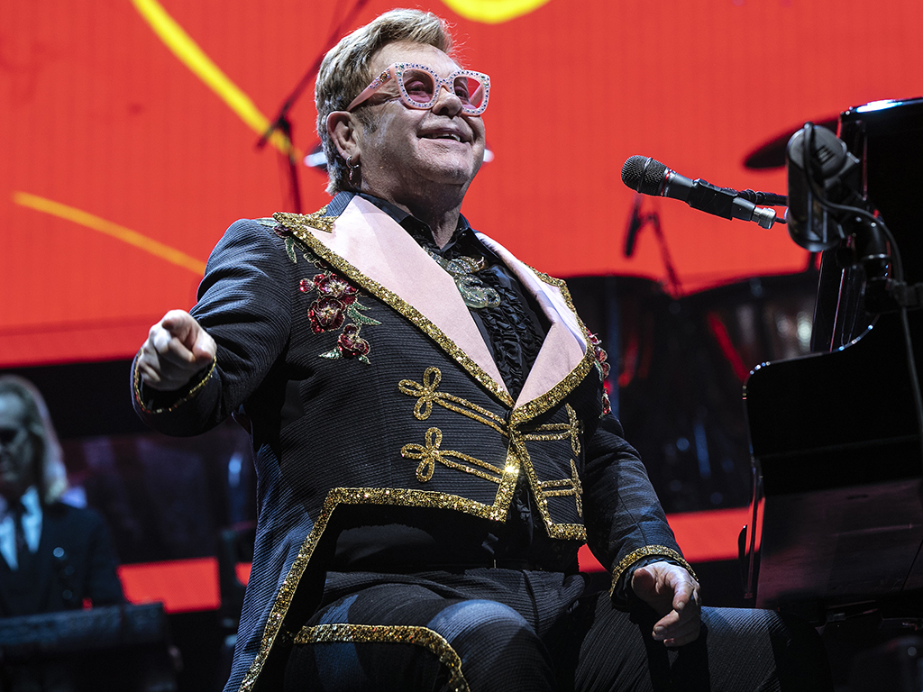 Elton John performs during the 'Farewell Yellow Brick Road' tour at the Spectrum Center  on Nov. 6, 2019 in Charlotte, N.C.