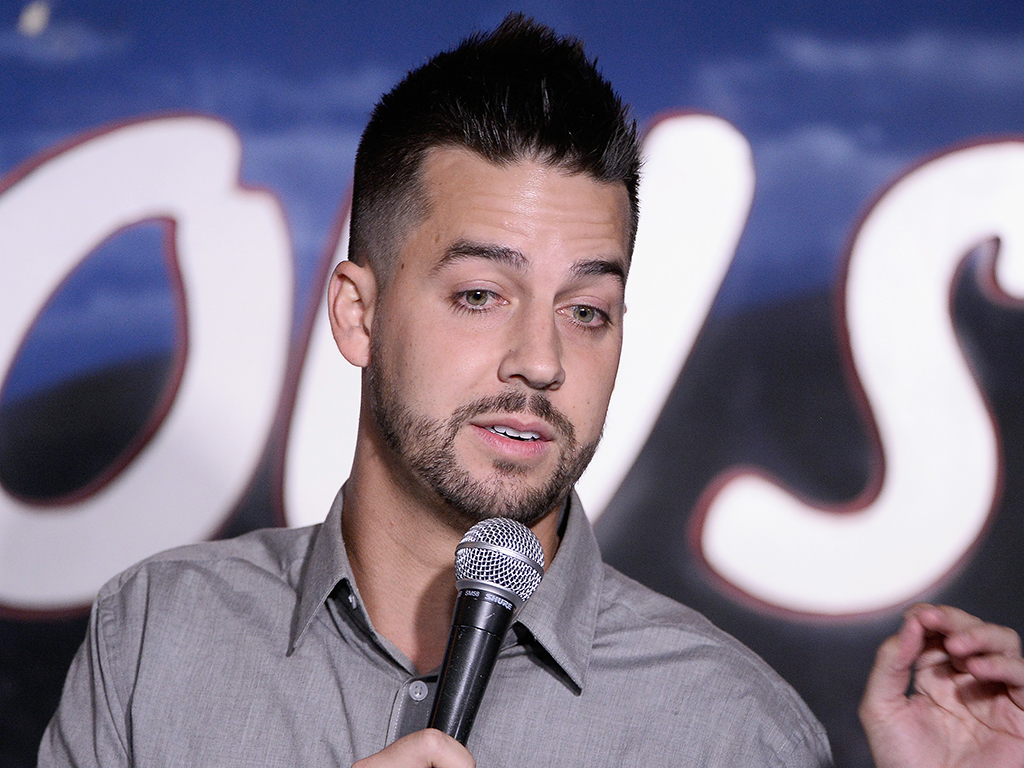 Comedian John Crist performs during his appearance at the Ice House Comedy Club on Aug. 4, 2016 in Pasadena, Calif.