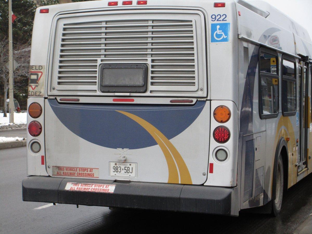 A HSR bus in Westdale.