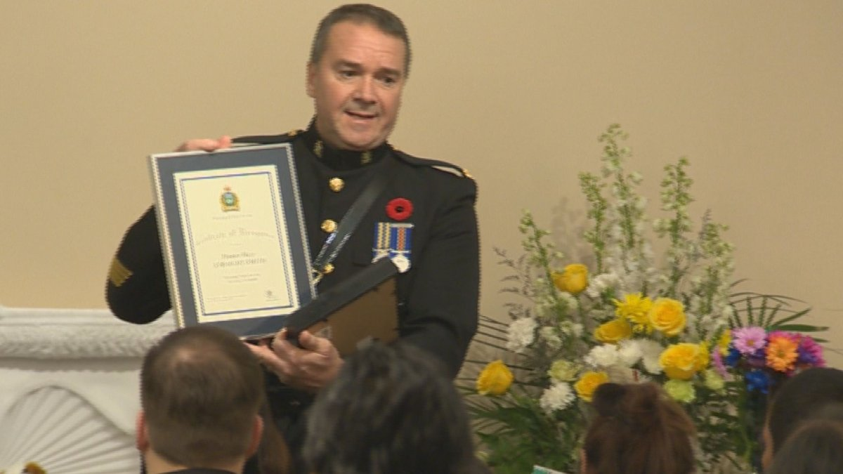 Winnipeg police honoured Hunter Straight Smith by making him a special constable.