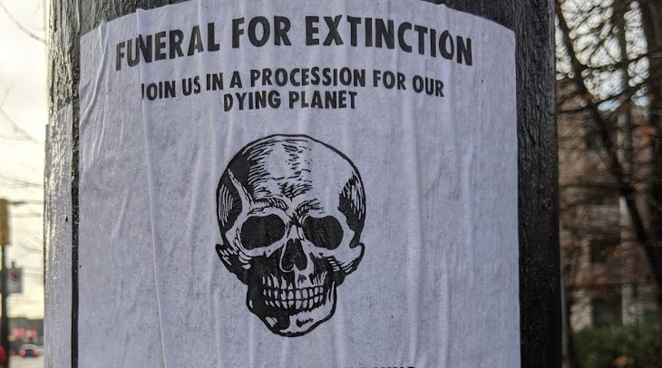 A poster for Extinction Rebellion Vancouver's planned protest on Friday.