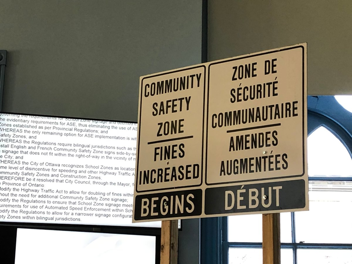 """These are the signs that will be installed at the entrances to eight new designated """"community safety zones"""" in Ottawa."""