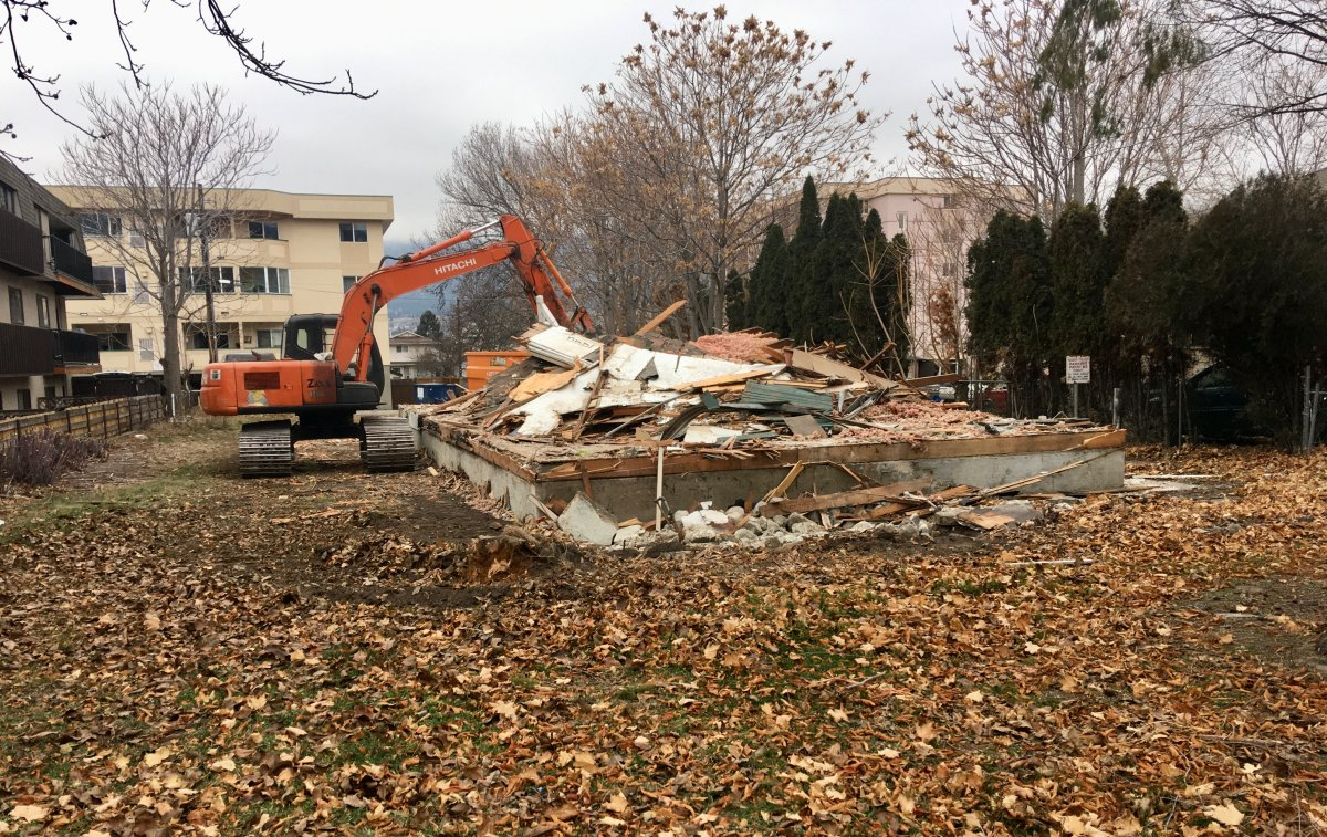A notorious problem home in Penticton, B.C., was demolished on Saturday.