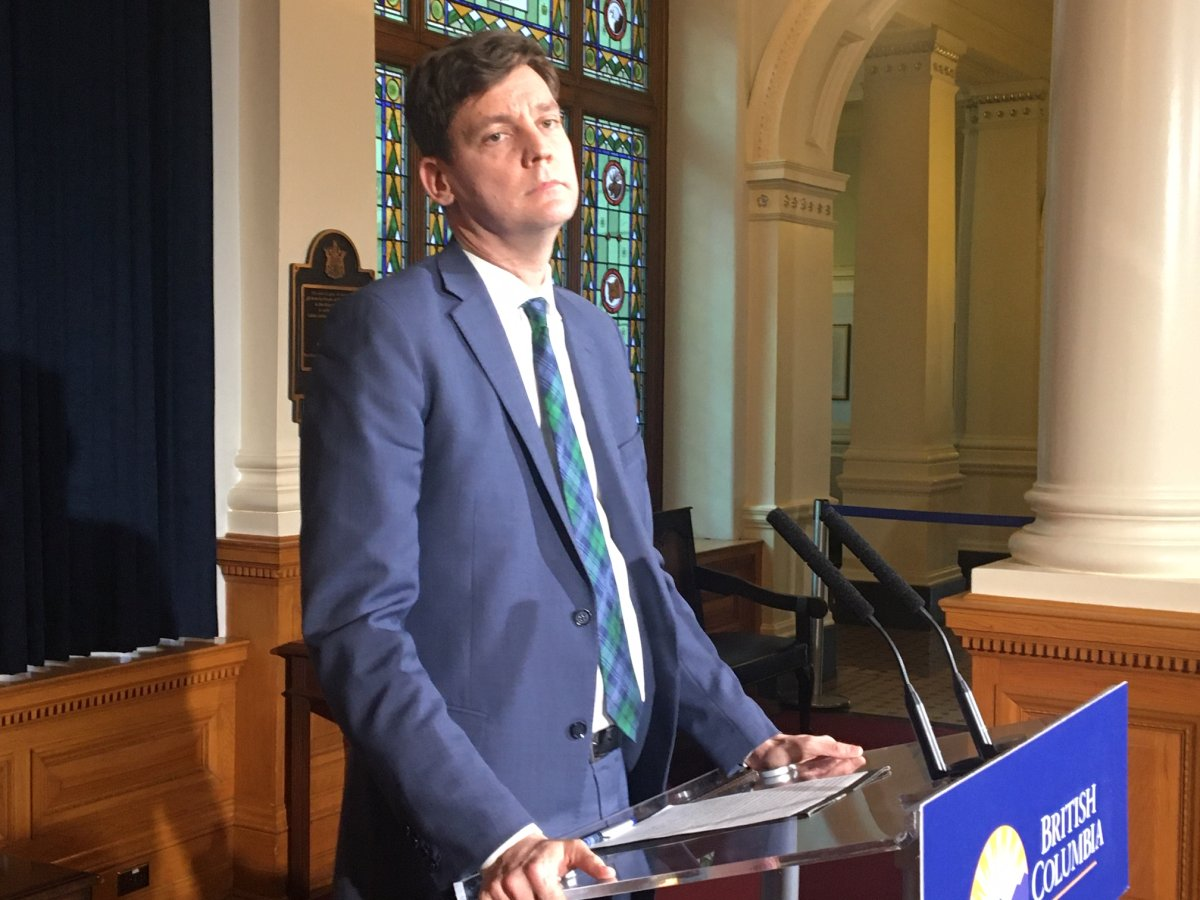 Attorney General David Eby speaks to reporters on November 20, 2019.