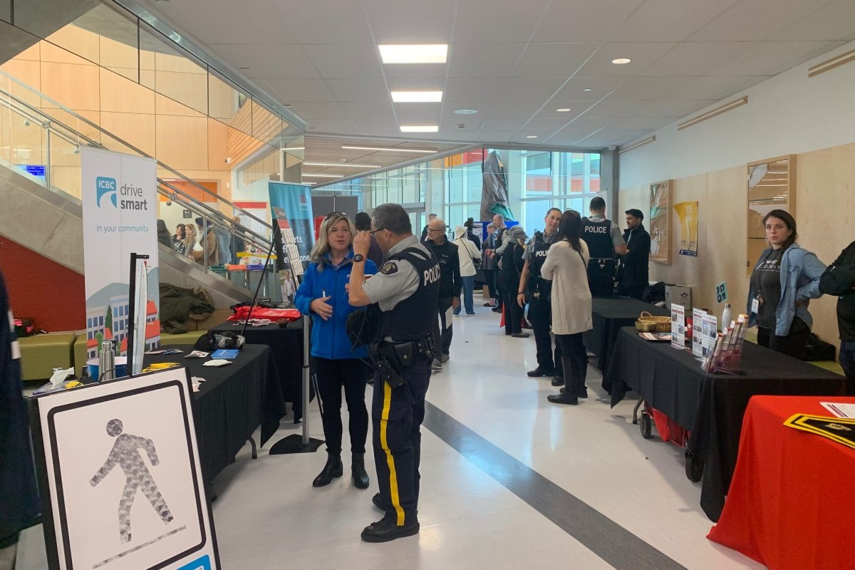 Surrey RCMP were in Clayton Heights Saturday for a Public Safety Fair.