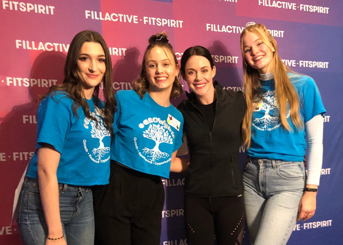 (Left to Right) McKenna Hall, Emma Jull, Tessa Virtue, and Haley Cocker and the second annual Grow Girls event in Woodstock.