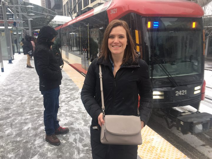 Robyn Hammer was reunited with her Kate Spade purse she left on the train after Calgary Transit employees tracked her down.