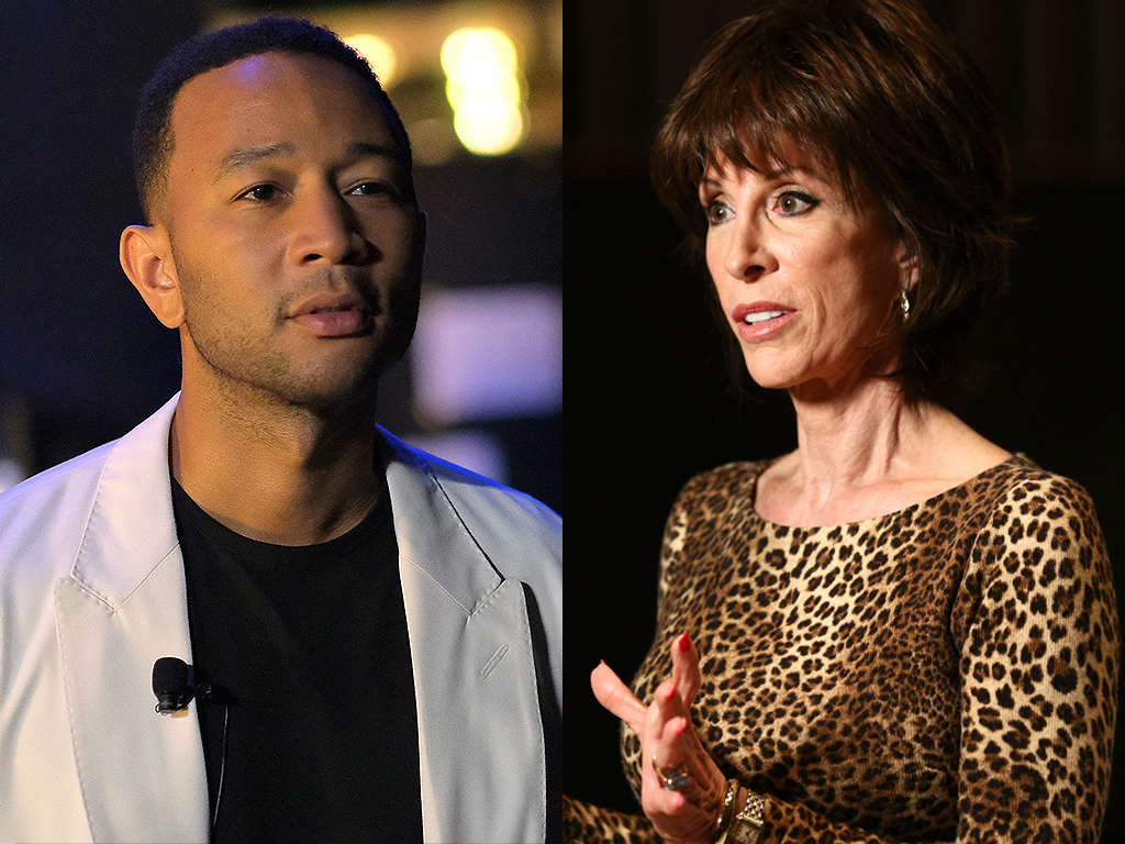 (L-R) John Legend and Deana Martin.