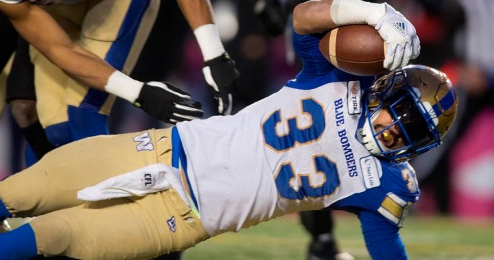 Grey Cup MVP, top Canadian Andrew Harris among Winnipeg Blue Bombers potential free agents