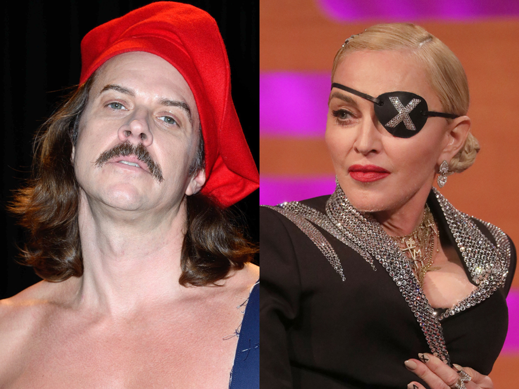(L-R) Casey Spooner of Fischerspooner and Madonna.
