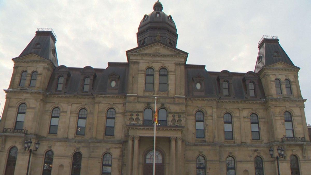 The New Brunswick legislature in Fredericton, N.B.