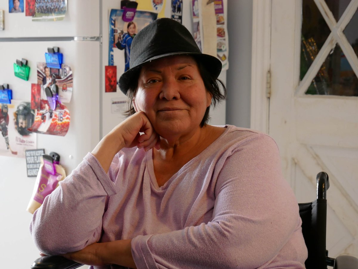 Jennifer George at her home in Oneida Nation of the Thames in Ontario on April 7, 2019.