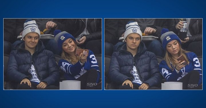 Toronto Siblings Go Viral After Taking Fake Smile Photo As Leafs Get Hammered By Penguins Globalnews Ca