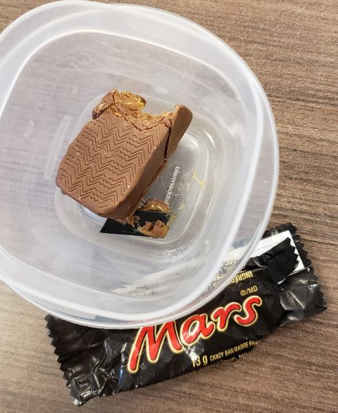 Police are investigating after a razor blade was reportedly found in a chocolate bar.