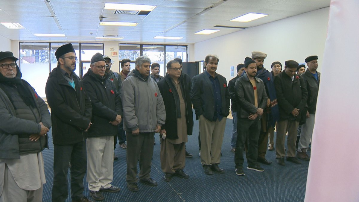 Saint-Michel's Muslim community honoured veterans during an early Remembrance Day ceremony. Friday November 08, 2019.