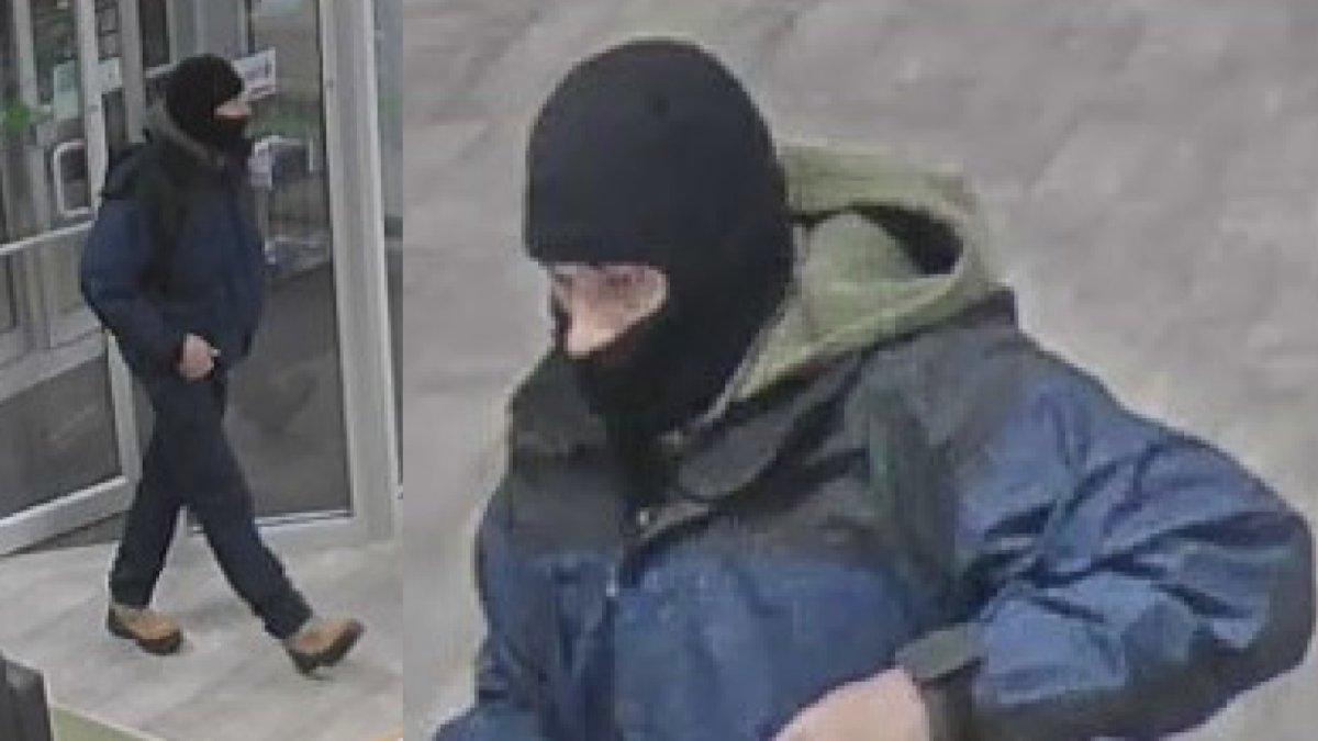 New Brunswick RCMP are asking for the public's assistance in identifying this man, who they say is responsible for an armed robbery on Dieppe, N.B.