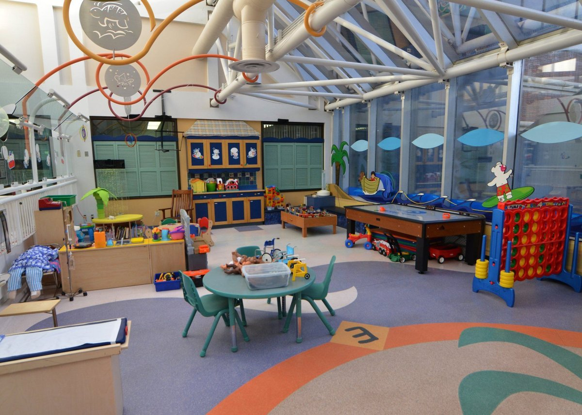 A play area at the Stollery Children's Hospital in Edmonton, Alta.