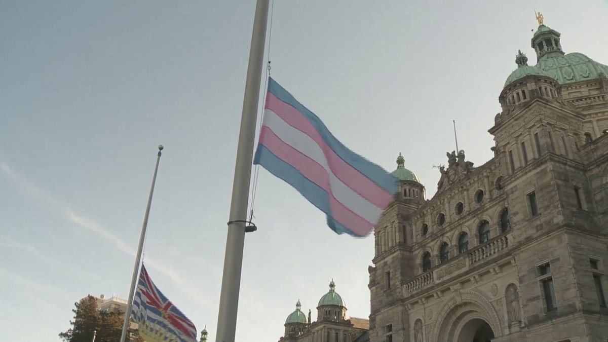 The transgender flag flies at the B.C. legislature for the first time ever.