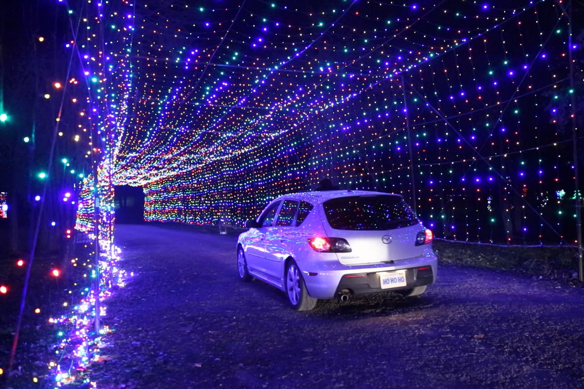 One of two tunnels from the Gift of Lights at Bingemans in Kitchener,.