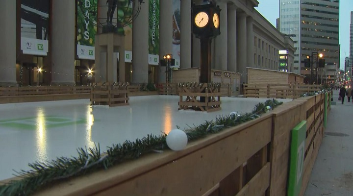 The rink opened to the public on Friday.