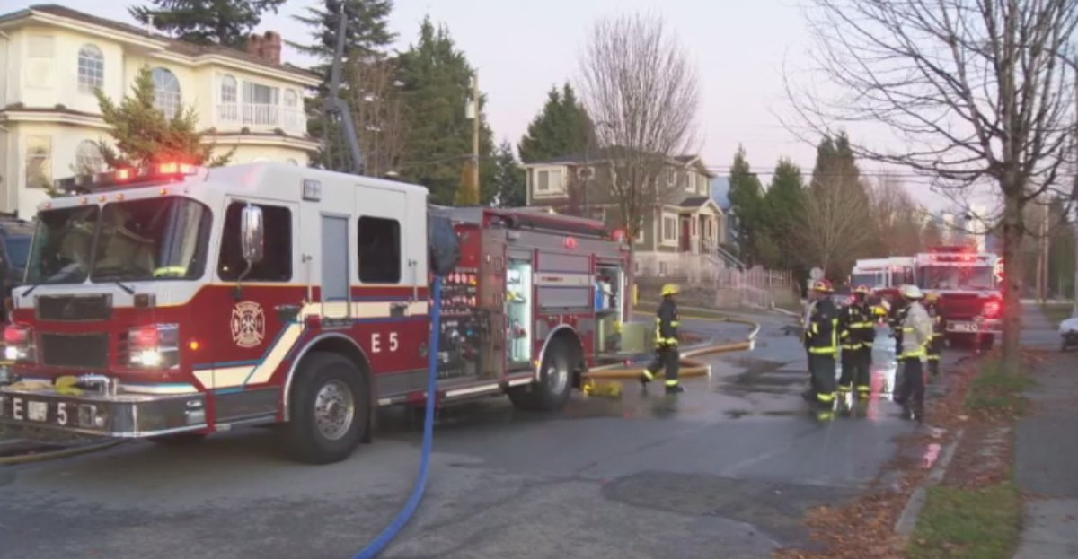Vancouver fire crews responded to multiple fires in the span of three hours on Monday.