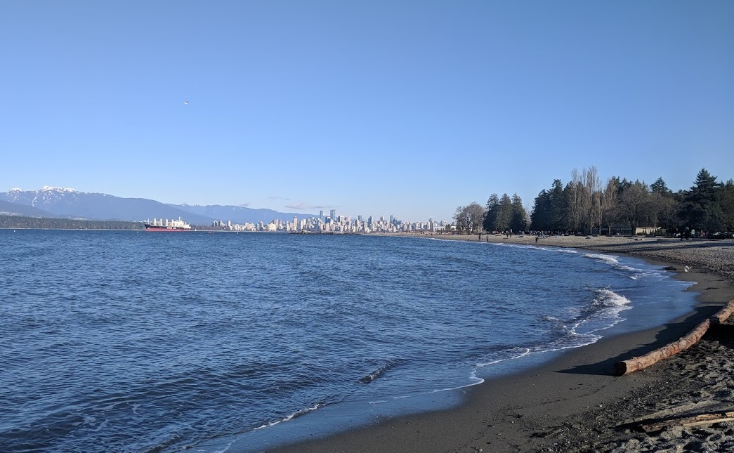 Downtown Vancouver, seen from Jericho Beach.