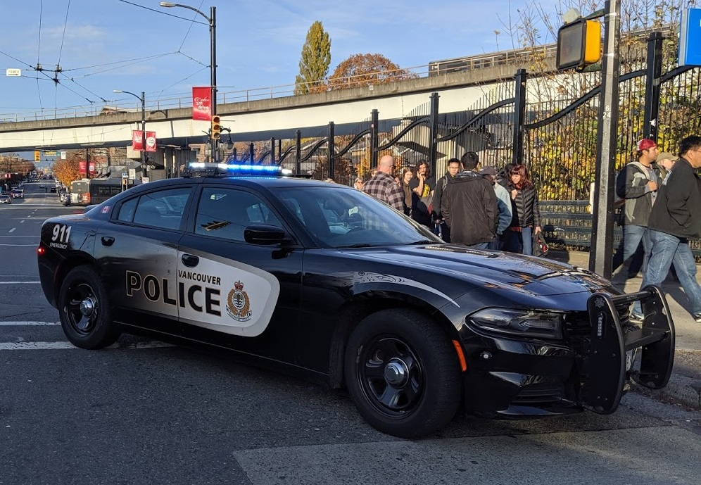 FILE - A Vancouver police cruiser seen in Commercial Drive.
