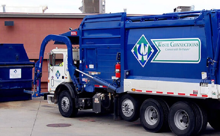 A Waste Connections Canada truck seen in a photo from the company's website.