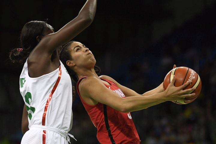 (File photo from 2016) Canada's Kia Nurse is in Edmonton this week to help the Canadian women, who were recently ranked a program-high fourth in the world, move on to the final round of qualifying.