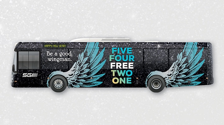 """The City of Regina and SGI are teaming together to """"Wing in the New Year,"""" offering free bus service in its 32nd year."""
