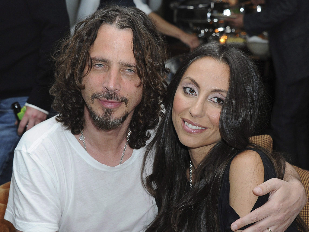 In this April 27, 2012, file photo, Chris Cornell, at left, and his wife, Vicky Karayiannis attend the celebration of 'Commando: The Autobiography of Johnny Ramone,' in Los Angeles, Calif.