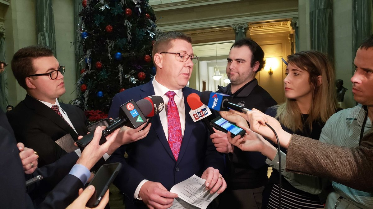 Saskatchewan Premier Scott Moe discusses the desire for increased immigration control, plus the idea of the province collecting its own share of income tax on Dec. 4, 2019.