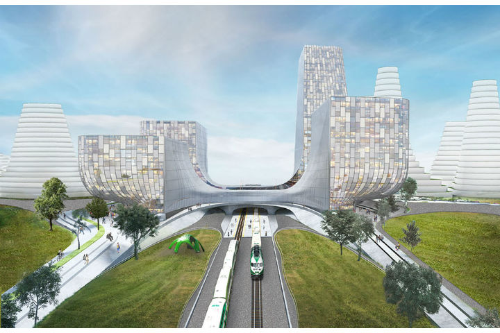 """Dubbed the Orbit, the community will combine """"small town and rural lifestyles"""" with the """"benefits of urban living,"""" with a new GO station at its centre."""