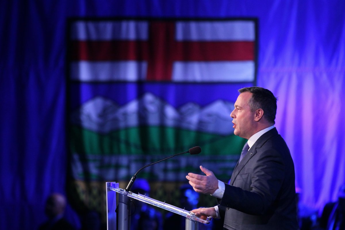 Alberta Premier Jason Kenney delivers his address to the Alberta United Conservative Party annual general meeting in Calgary, Alta., Saturday, Nov. 30, 2019.