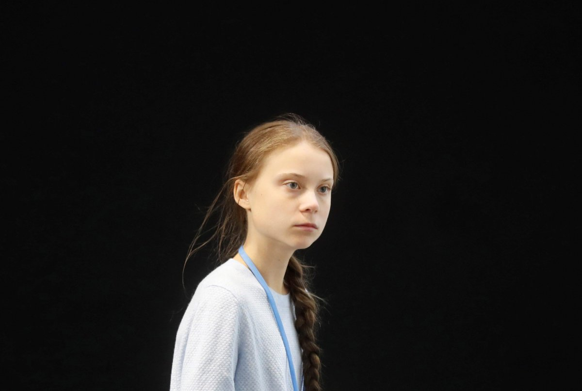 Swedish environmental activist Greta Thunberg arrives for a press conference in the framework of COP25 UN Climate Change Conference in Madrid, Spain on Dec. 9, 2019.