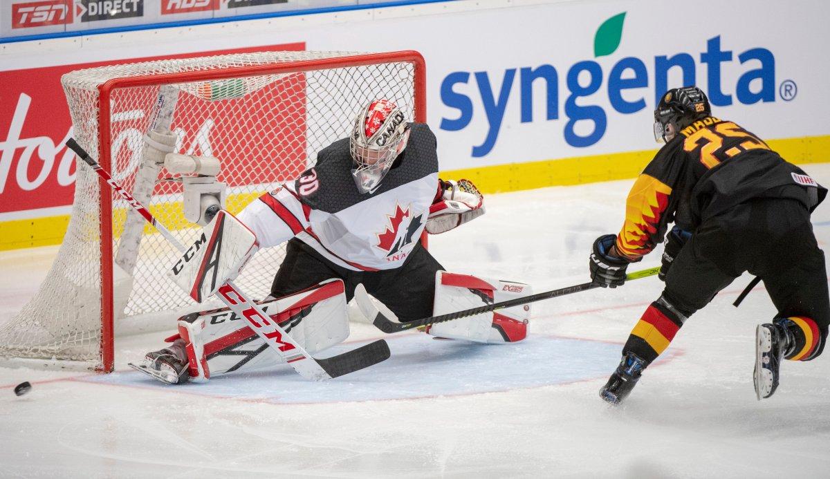 2020 World Juniors Canada Beats Germany 4 1 Hofer Wins 1st International Start National Globalnews Ca