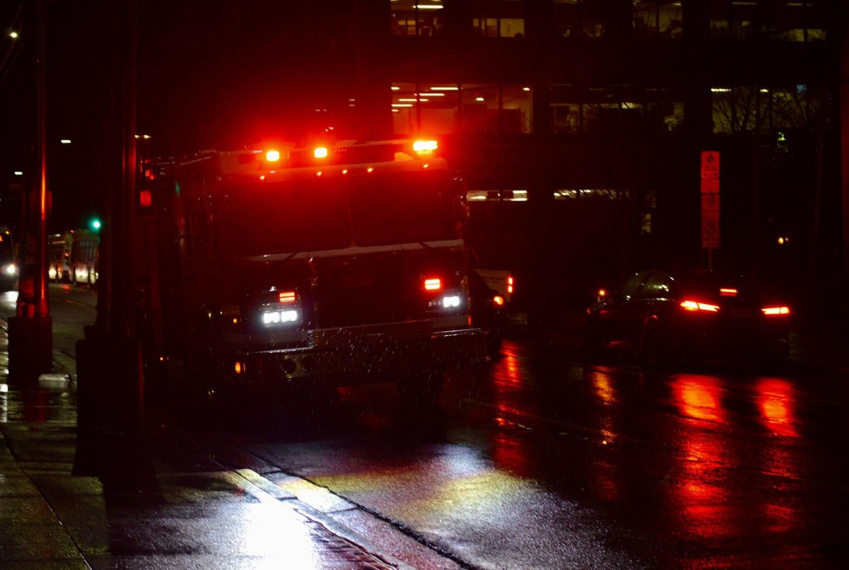 File - A fire truck races down Gottingen Street in this file photo.