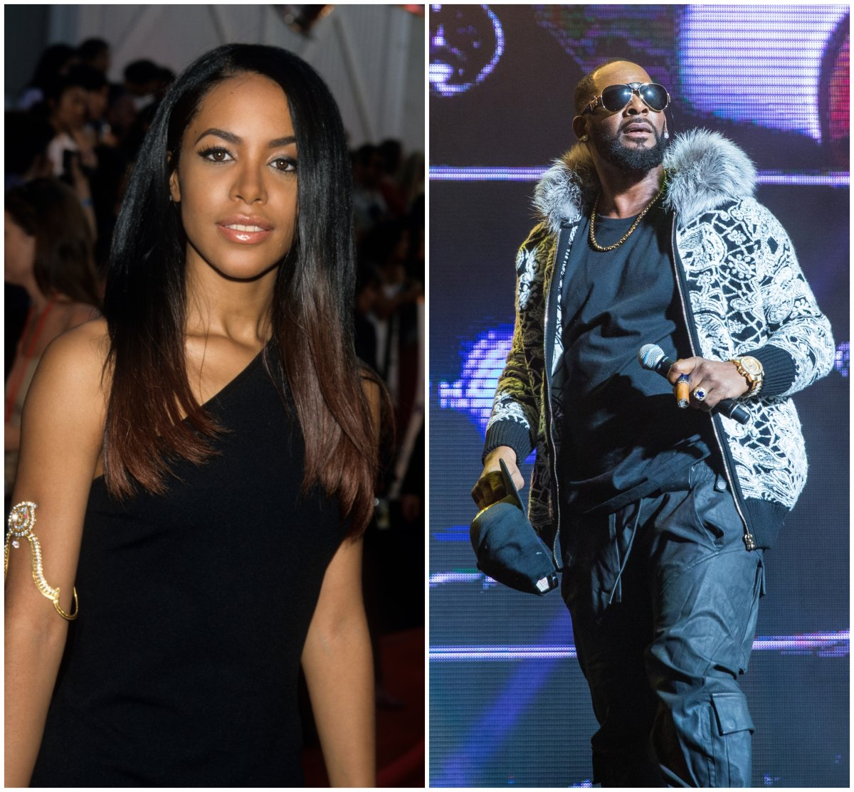 (L-R): Aaliyah and R. Kelly.