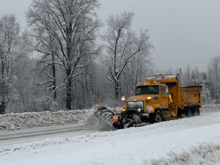 AIM Roads is suggesting that motorists limit their travel in the North Okanagan due to challenging weather conditions.