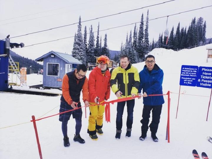 Apex Mountain Resort near Penticton opened for the ski season on Saturday.