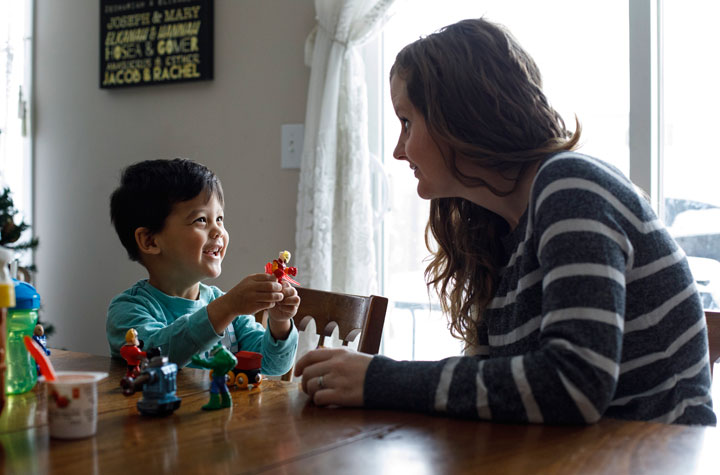 Alexandra Perez and her son Armando Perez are pictured in Edmonton, Wednesday, Dec. 11, 2019.
