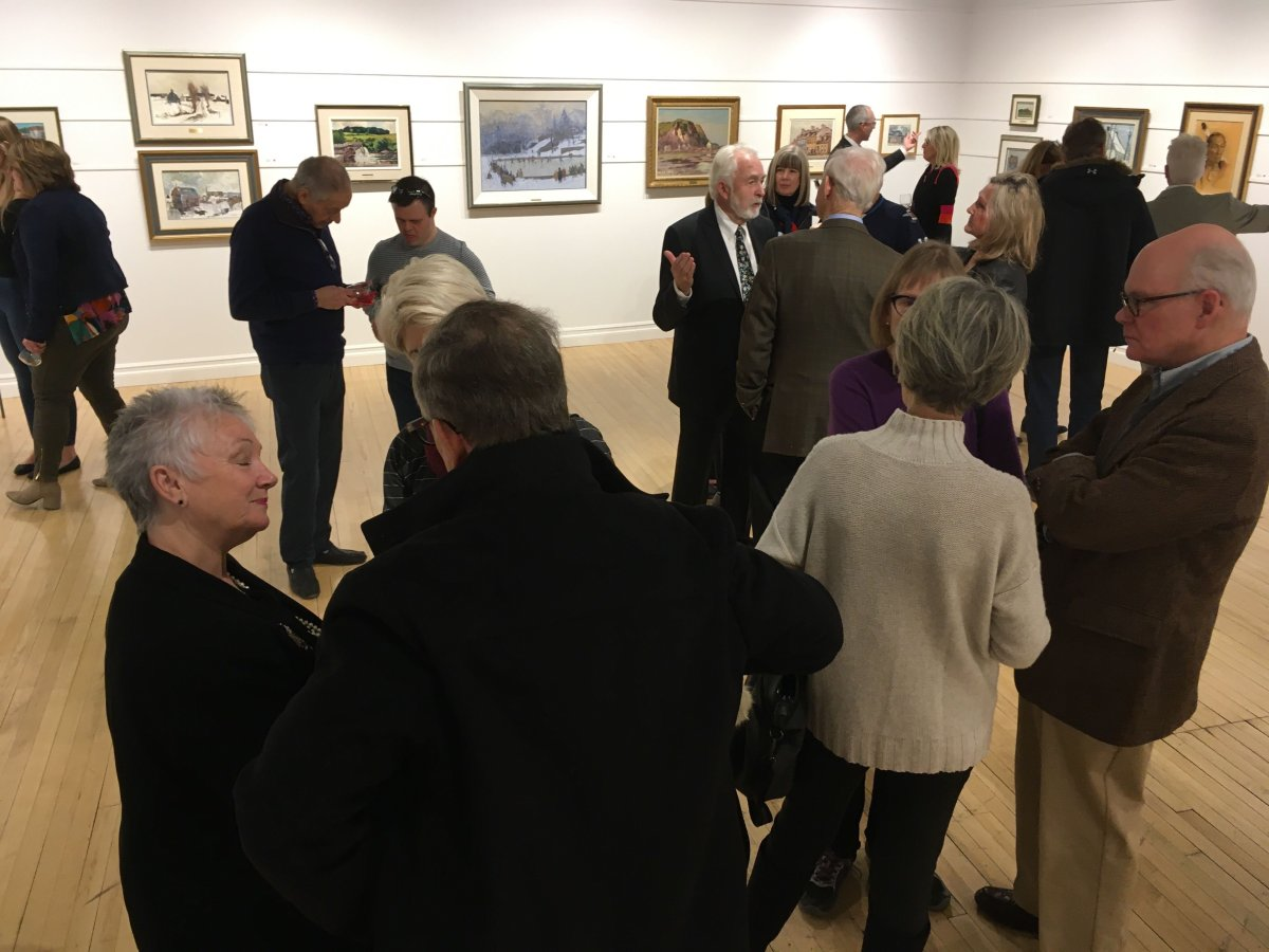 Art enthusiasts get ready for the auction in support of The CancerCare Manitoba Foundation.