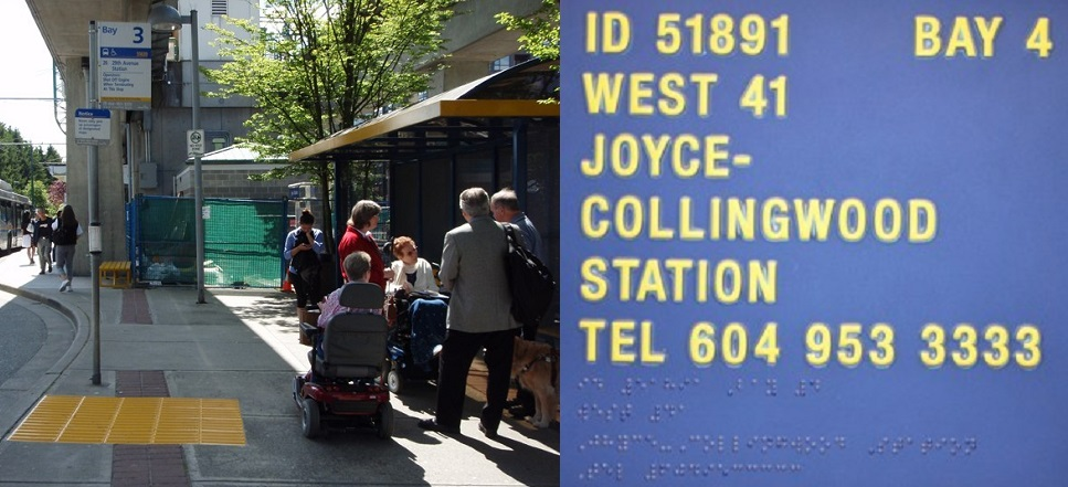 TransLink began piloting its accessibility upgrades for the visually impaired at Joyce-Collingwood Station in 2012.