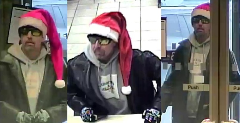 Police are looking for this man in connection with an alleged bank robbery in Nanaimo on Monday.