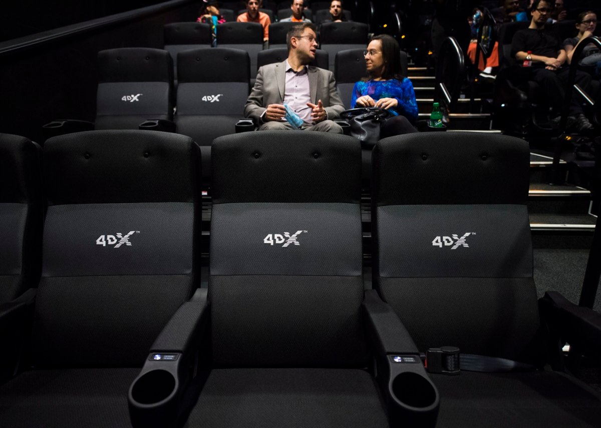 The first 4DX theatre is launched in Toronto in 2016.