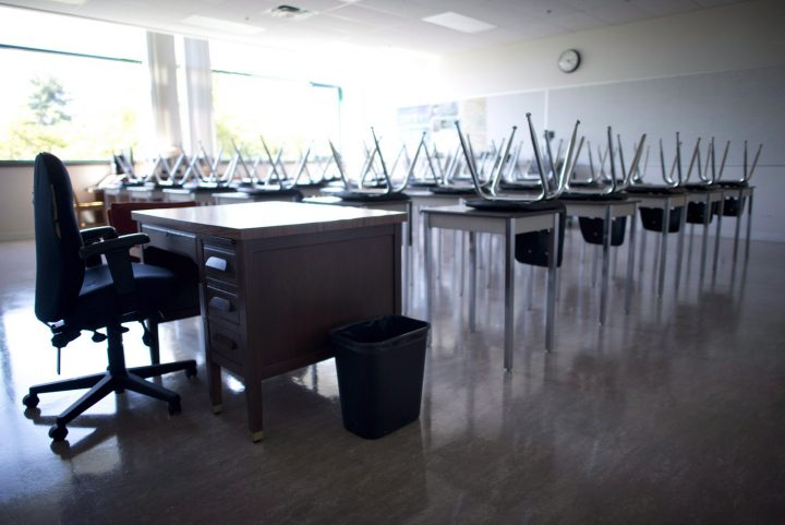 File photo of an empty classroom.
