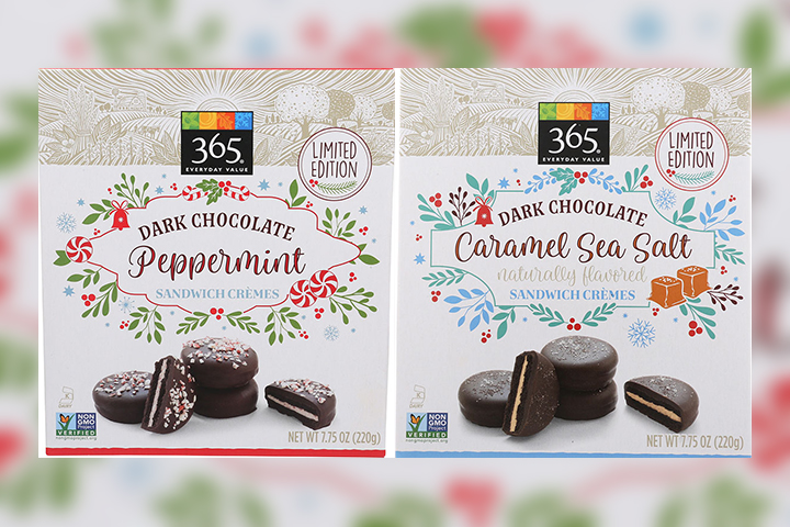 The Canadian Food Inspection Agency says two varieties of 365 Everyday Value brand Dark Chocolate Sandwich Crèmes may contain dairy that is not mentioned on the product's label.