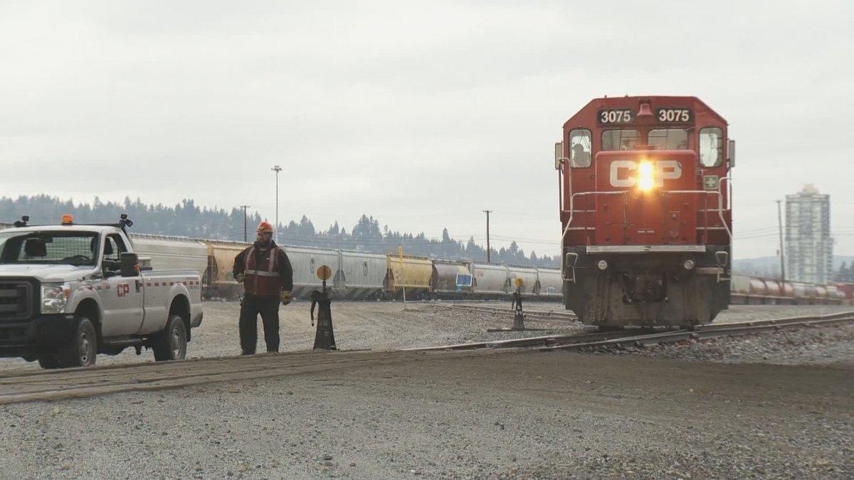 CP Rail's Port Coquitlam railyard.