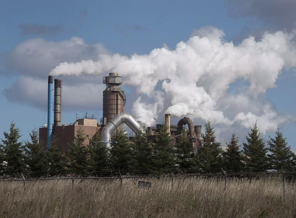 The Northern Pulp Nova Scotia Corporation mill is seen in Abercrombie, N.S. on Wednesday, Oct. 11, 2017.