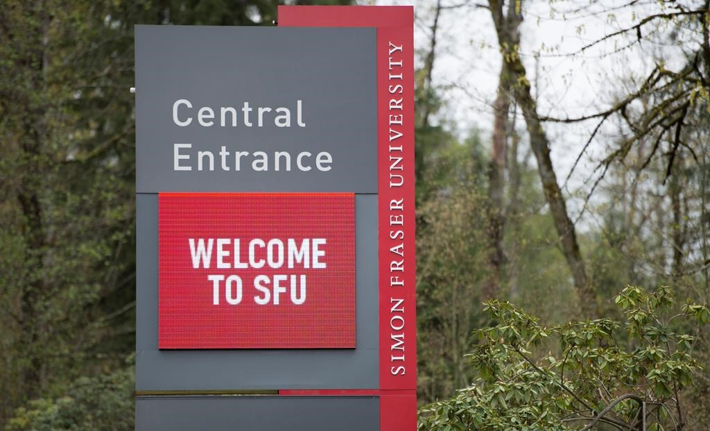Simon Fraser University is pictured in Burnaby, B.C., Tuesday, Apr 16, 2019. THE CANADIAN PRESS/Jonathan Hayward.